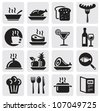 Icons set Restaurant - stock vector