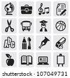 Icons set school - stock vector