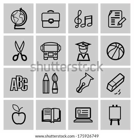 Icons set school