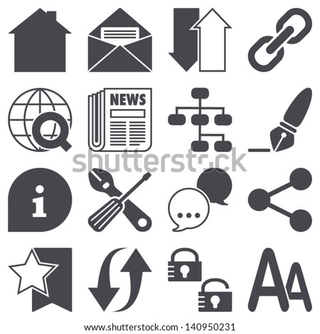 Icons set: Web - stock vector