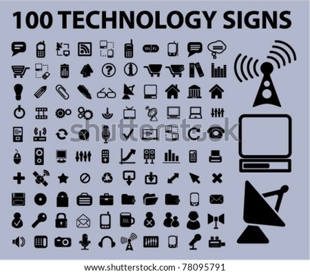 icons, signs, vector - stock vector