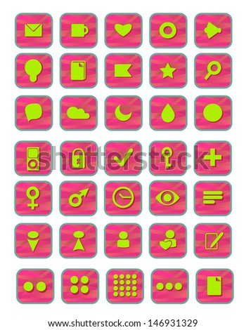 Icons, signs, vector illustrations - stock vector