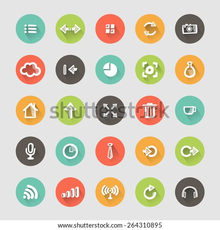 Icons sketches for the site. Isolated on white background - stock vector