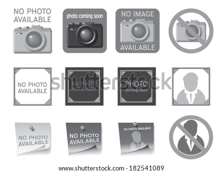 Icons to fill the place of missing photos. Vector illustration - stock vector