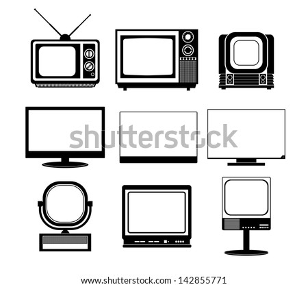 Icons TV - stock vector