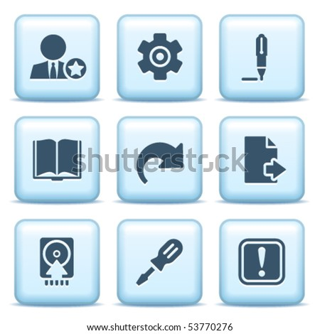 Icons with blue buttons 6
