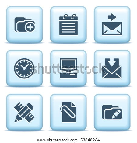Icons with blue buttons 27