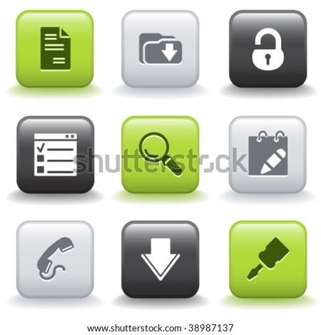 Icons with buttons 8