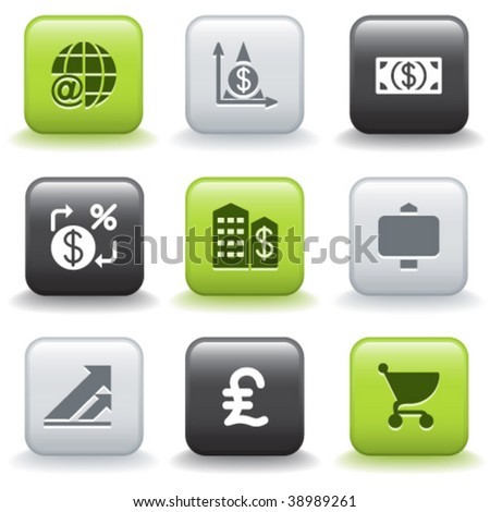 Icons with buttons 23 - stock vector