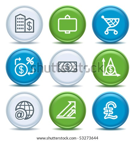 Icons with color buttons 23 - stock vector