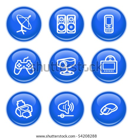Icons with glossy buttons 21