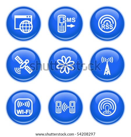Icons with glossy buttons 30