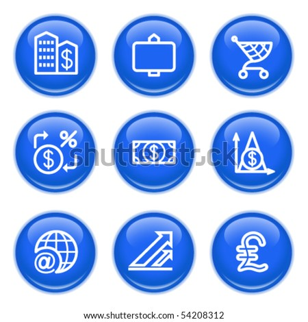 Icons with glossy buttons 23 - stock vector
