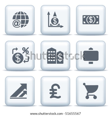 Icons with gray buttons 23 - stock vector