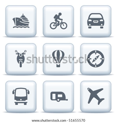 Icons with gray buttons 20 - stock vector