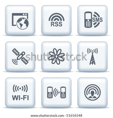Icons with gray buttons 30 - stock vector