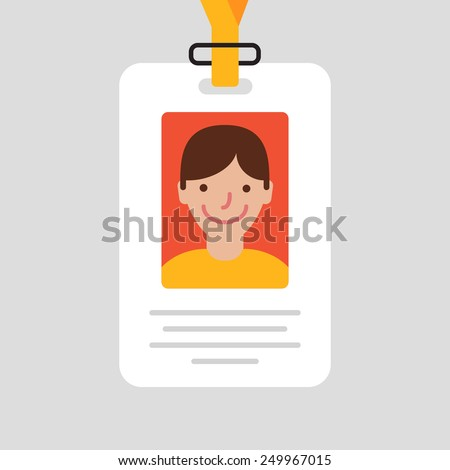 Id card for businessman. Vector illustration. Flat design style - stock vector