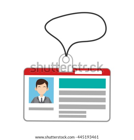 id card icon - stock vector