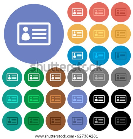 id card multi colored flat icons stock vector royalty free