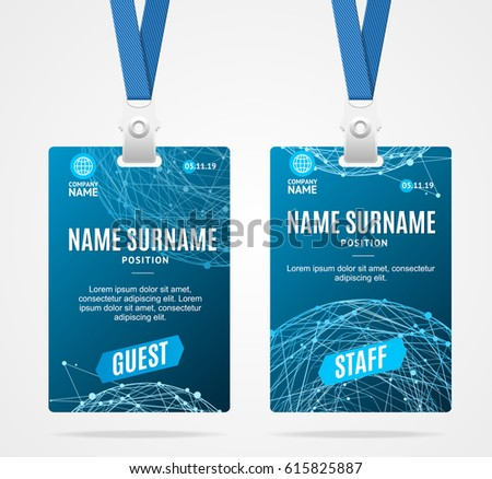 event badge template