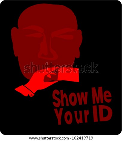 ID checking sign - stock vector