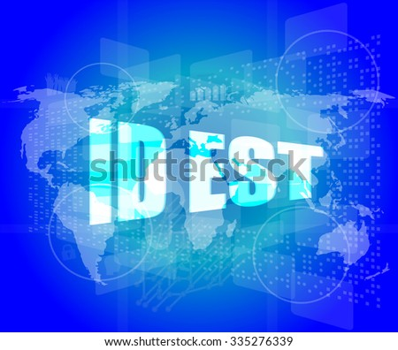 id est on digital touch screen, business concept vector illustration - stock vector