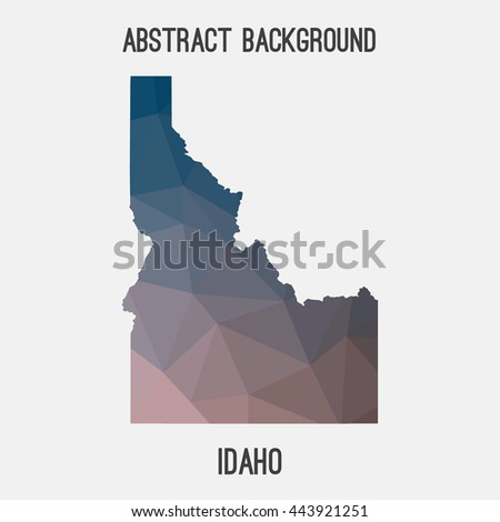 Idaho map in geometric polygonal,mosaic style.Abstract tessellation,modern design background. Vector illustration EPS8 - stock vector