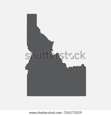 Idaho state border map. - stock vector
