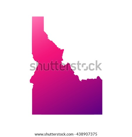 Idaho state map with gradient - stock vector
