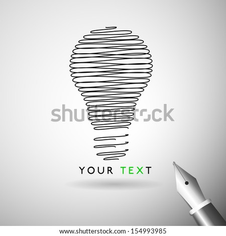 Idea Bulb design concept in vector format - stock vector