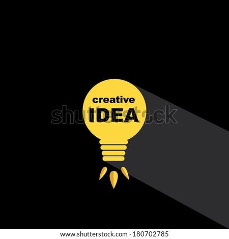 Idea bulb icon, concept creative background. Vector illustration. - stock vector