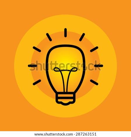 Idea bulb vector - stock vector