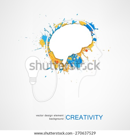 idea concept creative, vector illustration