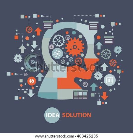 Idea concept design on clean background,vector