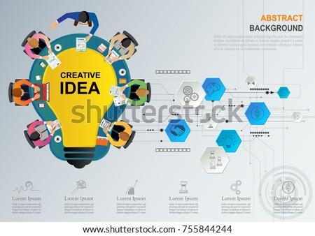 Idea Concept Business Analysis Brainstorm Teamwork Stock Vector ...