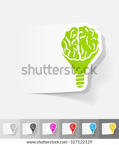 idea concept paper sticker with shadow. Vector illustration