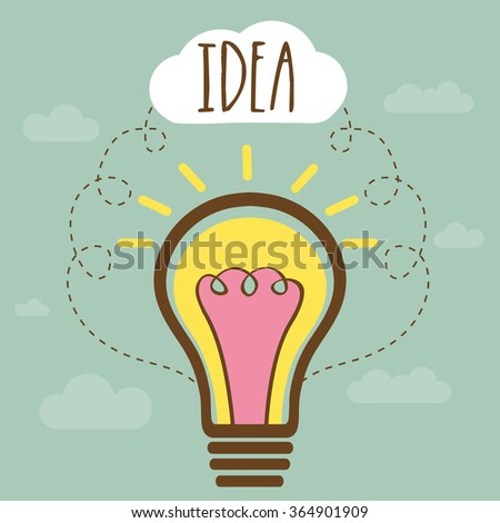 Idea concept with illustration of creative light bulb for Business. - stock vector
