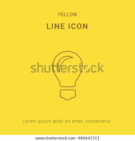 Idea Cute yellow thin line icon / logo Design