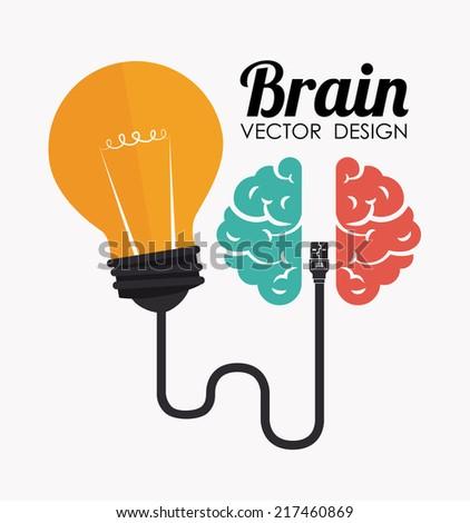 idea design over white background vector illustration - Idea Design