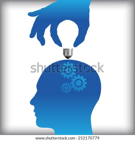 Idea from human thought process concept - stock vector