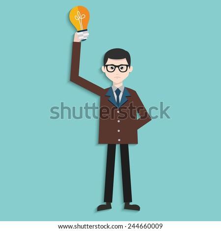 Idea,Human resource,Businessman design,clean vector - stock vector