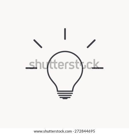 idea icon - stock vector