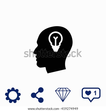 Idea icon. Universal icon to use in web and mobile UI - stock vector