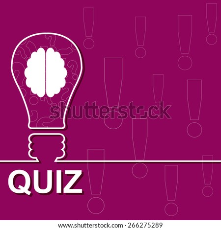 Idea lamp with electric plug background. Quiz with question marks sign icon. Questions and answers game symbol. Vector illustration. - stock vector