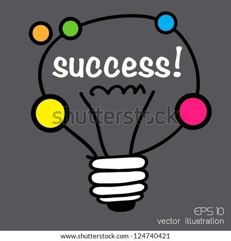 idea light bulb - stock vector