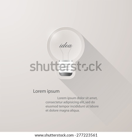 idea light bulb icons background. concept of big ideas inspiration innovation, invention, with free space for your sample text. - stock vector
