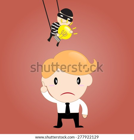 Idea Stealing - stock vector
