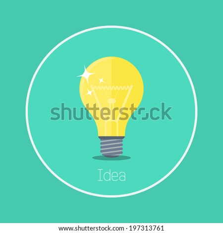 "Idea : Vector ""bulb"" icon flat design"