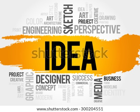 IDEA word cloud, business concept - stock vector