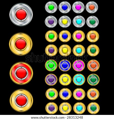 Ideal buttons. Vector. Without mesh. - stock vector